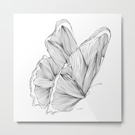 Butterfly Go Fly 2 Metal Print
