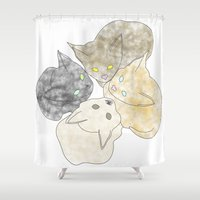 kittens Shower Curtains featuring kittens by GPM Arts