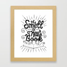 The Smell Of A New Book Framed Art Print