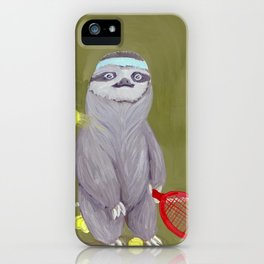 Sloths Are Bad At Things- Kevin the Tennis Star iPhone Case