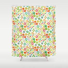 dp065-10 floral pattern Shower Curtain