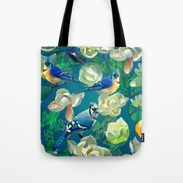 Blue Jays and Magnolias Tote Bag