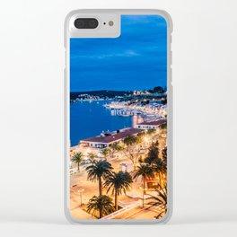Paisaje nocturno del puerto de maó Clear iPhone Case