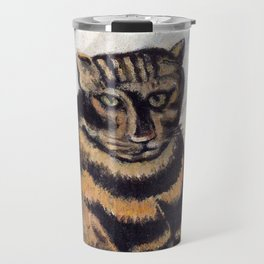 Henri Russeau, Tabby 1963, Naive Cat Artwork for Wall Art, Prints, Posters, Tshirts, Men, Women, You Travel Mug