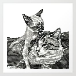 ear biting kitteh Art Print