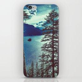 Crater Lake Vintage Summer iPhone Skin