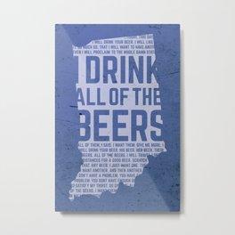 Indiana Beer Metal Print