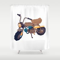 honda Shower Curtains featuring #1 honda z50 by Brownjames Prints