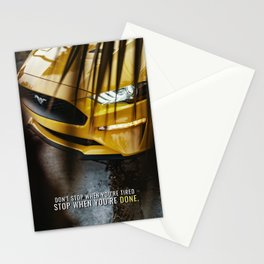 Only stop when Done Stationery Cards