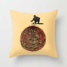 Abstract Connection Throw Pillow