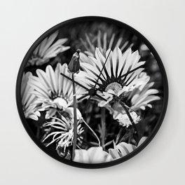 Desert Daisies (bnw) - Daisy Project in memory of Mackenzie Wall Clock