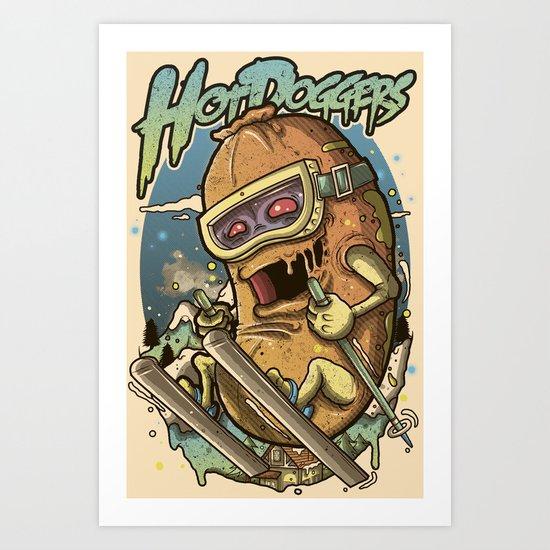 HotDoggers! Art Print
