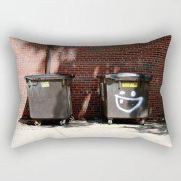 happy dumpster. Rectangular Pillow