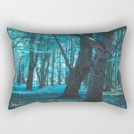 Forest in Teal Rectangular Pillow