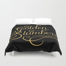 Golden Slumbers Duvet Cover
