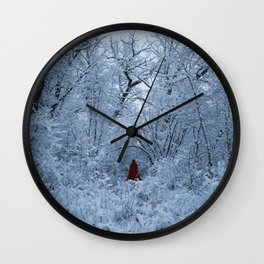The Lady in Red (I) Wall Clock