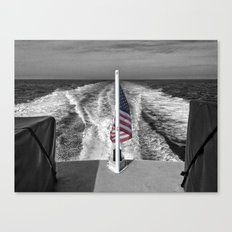Salute B&W Canvas Print