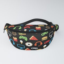 Video Game Party Snack Pattern Fanny Pack