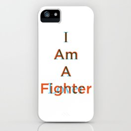 Lover and a Fighter iPhone Case