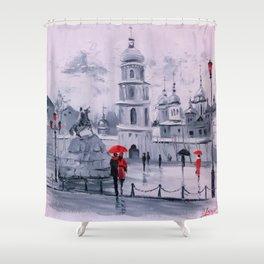 Sophia Square in Kiev Shower Curtain