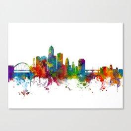Des Moines Iowa Skyline Canvas Print