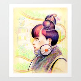Sweet Dj Art Print