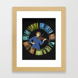 Violin Wreath Framed Art Print