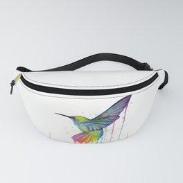 Hummingbird Rainbow Watercolor Fanny Pack