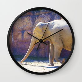 Elephant, Elefant Wall Clock
