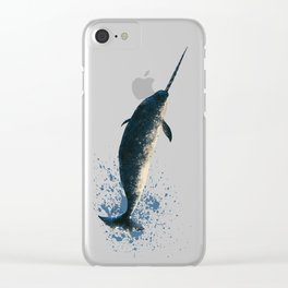 """Jackson the Narwhal"" by Amber Marine ~ Art (Copyright 2015) Clear iPhone Case"