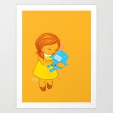holly loves beemo  Art Print