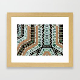Graphic design futuristic residential Framed Art Print