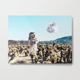 Collage, Astronaut, Desert, Moon, Creative, Nature, Modern, Trendy, Wall art Metal Print