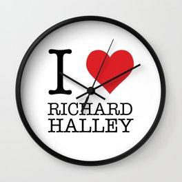 I Heart Richard Halley Wall Clock