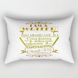A Writer's World Rectangular Pillow
