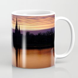 Sunset Reflection At The Lichfield Cathedral Coffee Mug