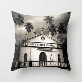 The Holy Cross Chapel of Anjuna, Goa, India Throw Pillow