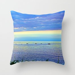 Saturated Sunset over the Circle of Rocks  Throw Pillow