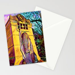 Sunset in Père Lachaise Stationery Cards