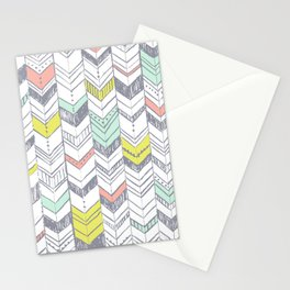 Sunset Chevrons  Stationery Cards