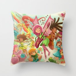 Goblins Drool, Fairies Rule! - Team Fairy Throw Pillow
