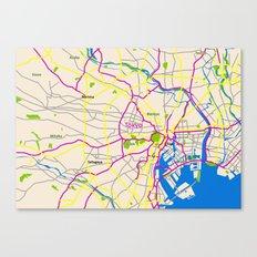 Tokyo Map Design Canvas Print