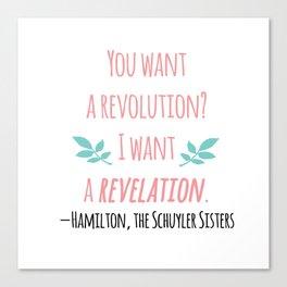 THE SCHUYLER SISTERS | HAMILTON Canvas Print