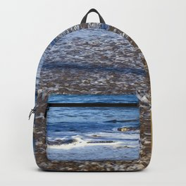 Hawaiian Beach: Gentle Waves on Powdered Sugar Sand Backpack