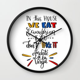 Ecuadorian QUOTE Wall Clock