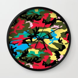 Multicolors Camouflage Wall Clock