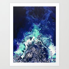 Gatria - Abstract Costellation Painting Art Print