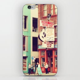 Ernest Tube Record Shop iPhone Skin