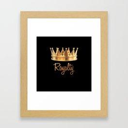 Royalty Gold Crown Framed Art Print