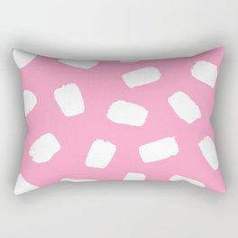 Candyfloss Brushstrokes Rectangular Pillow